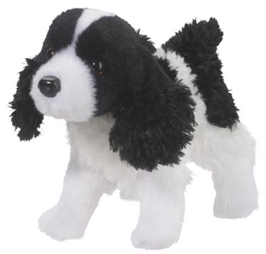 Stuffed Synthetic Toy Dogs Made From Fake Fur