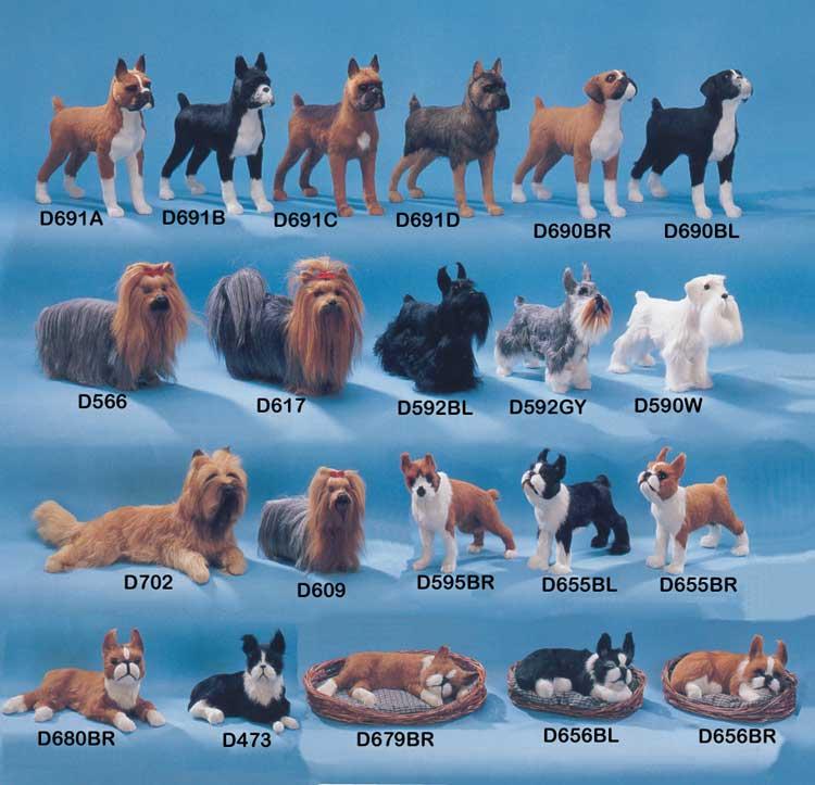 Life Like Dog Figurines Similar To A Stuffed Dog